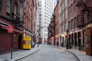 Stone Street a Primeira Rua Pavimentada em Nova York